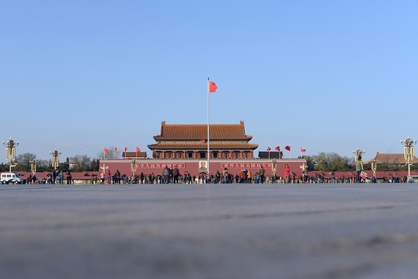 A general view shows Tiananmen Square in Beijing on December 3, 2015. The skies cleared in Beijing on December 2 and 3, after being swathed in choking smog that was nearly 24 times safe levels earlier in the week. AFP PHOTO / WANG ZHAO / AFP / WANG ZHAO        (Photo credit should read WANG ZHAO/AFP/Getty Images)